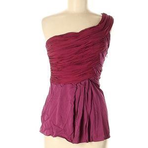 Abaete Berry Purple Sleeveless Silk Top